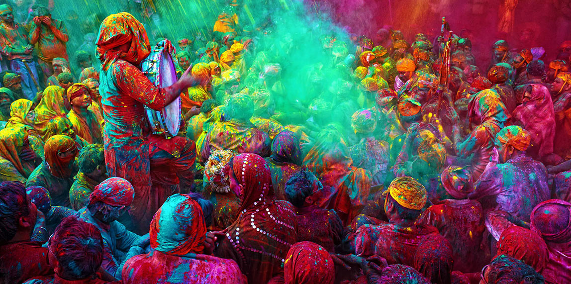 Holi Festival Celebration in Mauritius