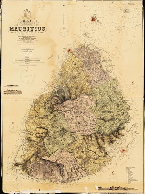 Mauritius Historical Map