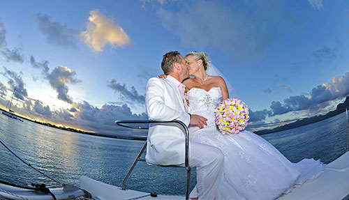 Catamaran Wedding in Mauritius