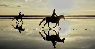 Romantic Sunset Horse Riding on the Riambel Beach