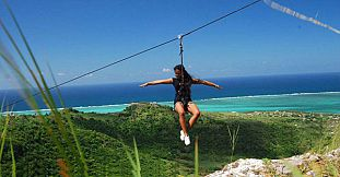 Zipline (Tyrolienne) Adventure in Rodrigues
