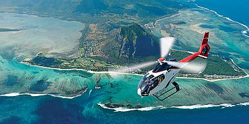 Ultimate Helicopter Sightseeing Tour in Mauritius at Mont Choisy Le Golf