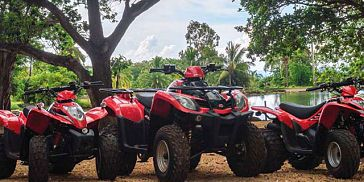 Quad Biking, Tube Ride & Ziplining - West of Mauritius