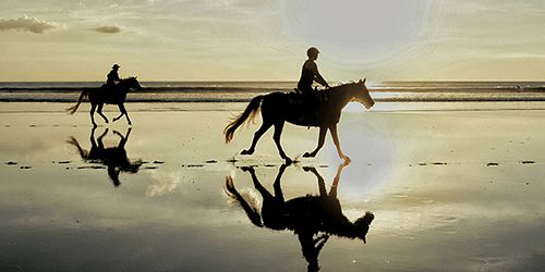 Romantic Sunset Horseback Beach Riding at Riambel