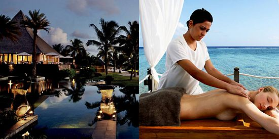 Day and Evening at Shanti Maurice