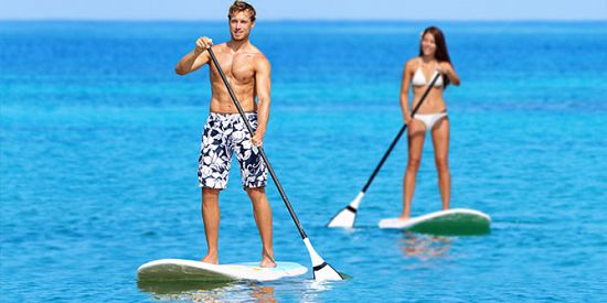 Stand up paddle (SUP) at Mont Choisy
