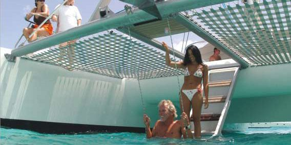 Luxury catamaran in mauritius