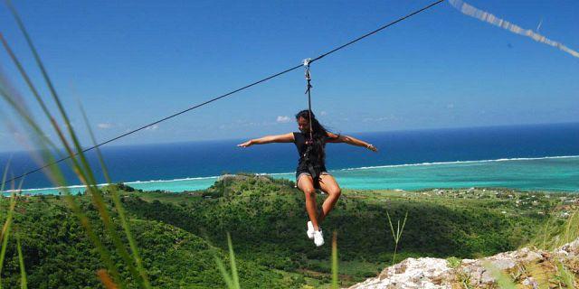 Zipline Tyrolienne Adventure In Rodrigues Mauritius