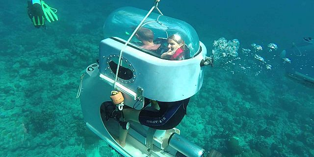 Underwater scooter adventure mauritius attractions for Dive scooter