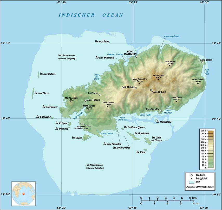 Rodrigues Island Map