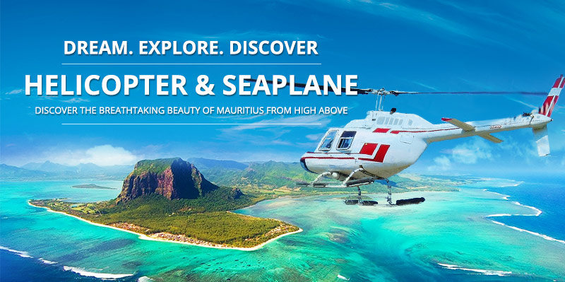 Mauritius Helicopter Sightseeing Flight Trips Seaplane