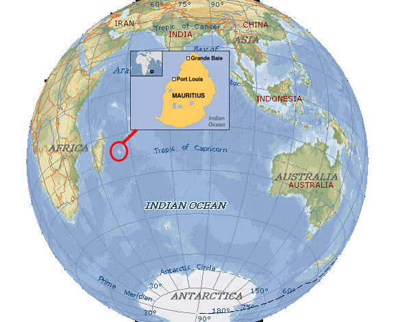 Mauritius Location Map Mauritius Attractions - Mauritius location in world map