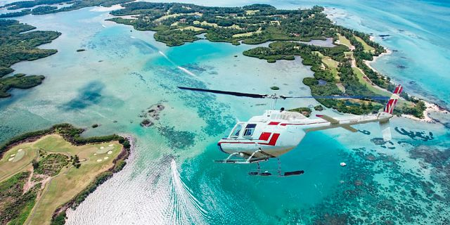 Mauritius Helicopter Golf Flight - Mauritius Attractions